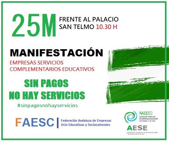 Las empresas educativas se concentrarán el próximo jueves en San Telmo a las 10.30 h.