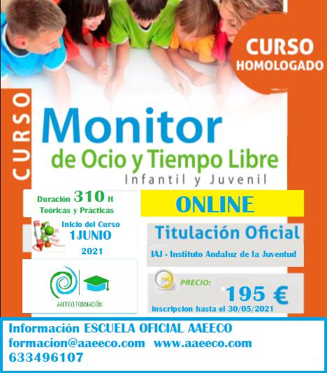 Curso Oficial de Ocio y Tiempo Libre (online 310 horas)